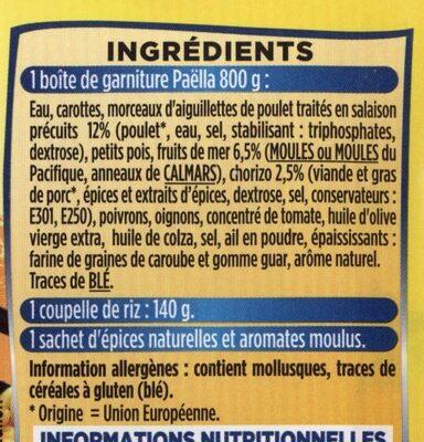 Paella royale - Ingrédients - fr