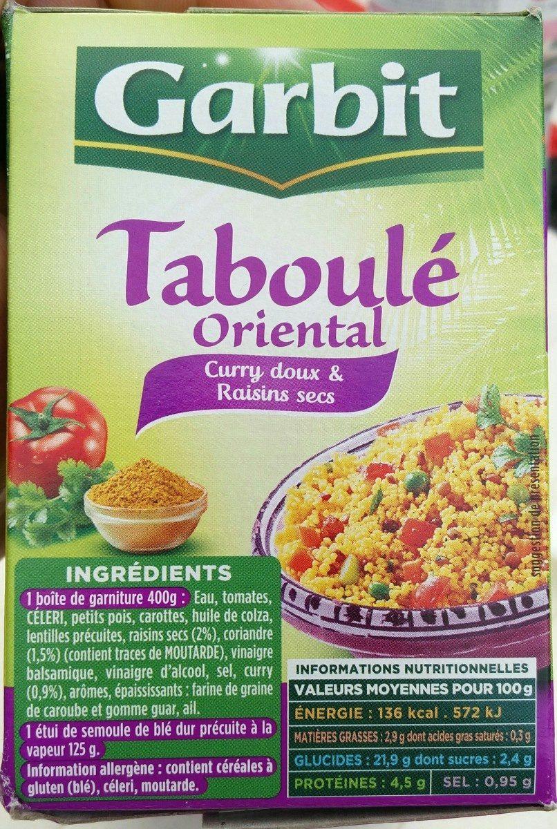 Taboulé oriental - Ingrédients
