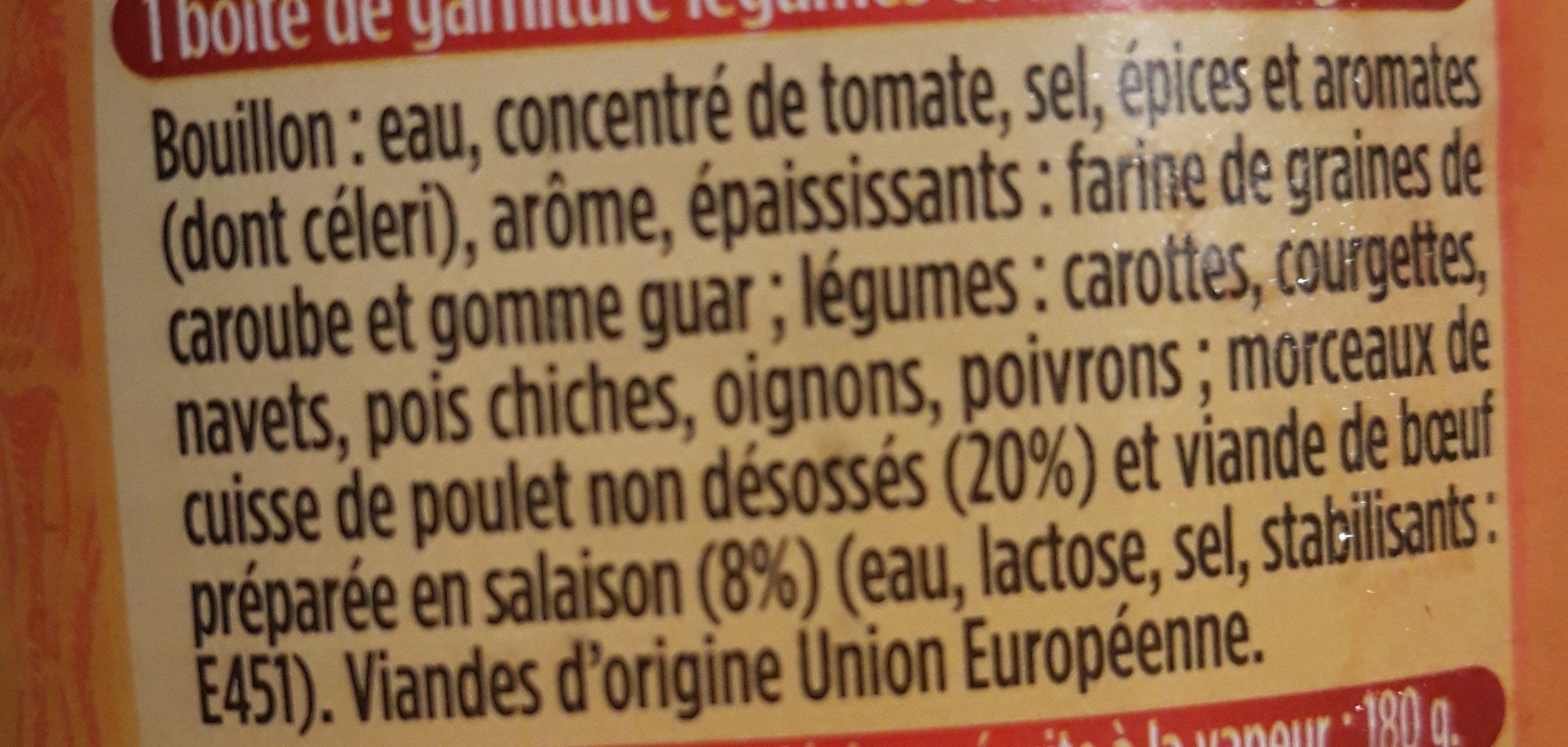 Couscous Royal Poulet & Boeuf - Ingrédients - fr
