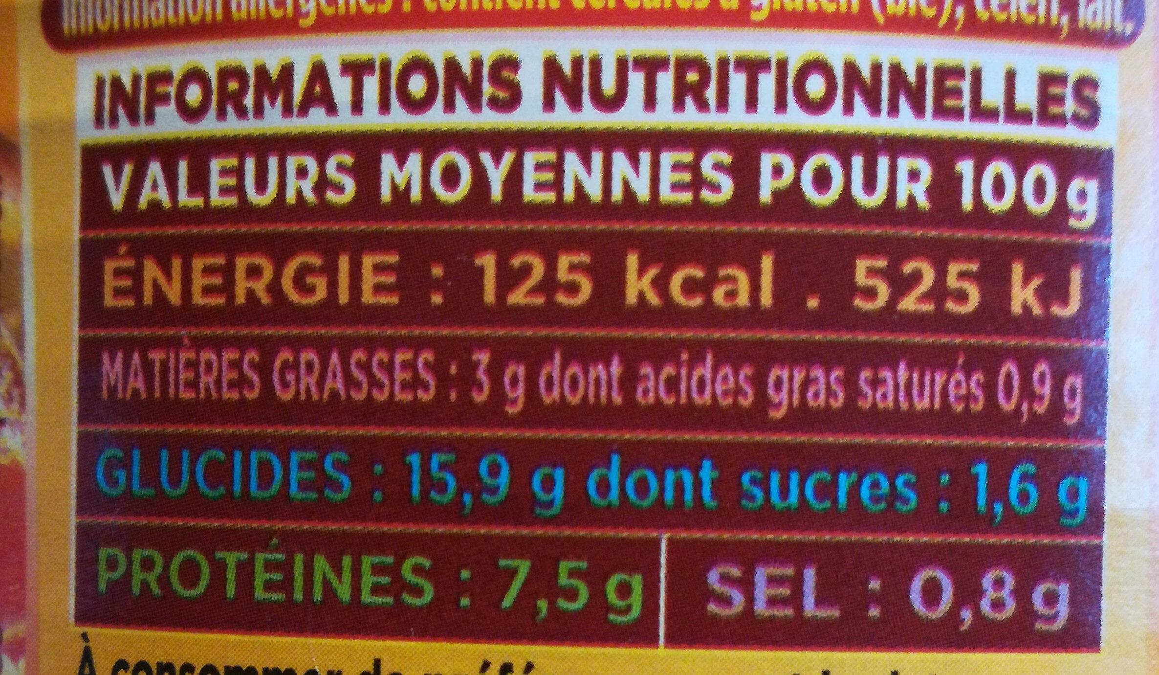 Couscous Royal Poulet & Boeuf - Informations nutritionnelles - fr