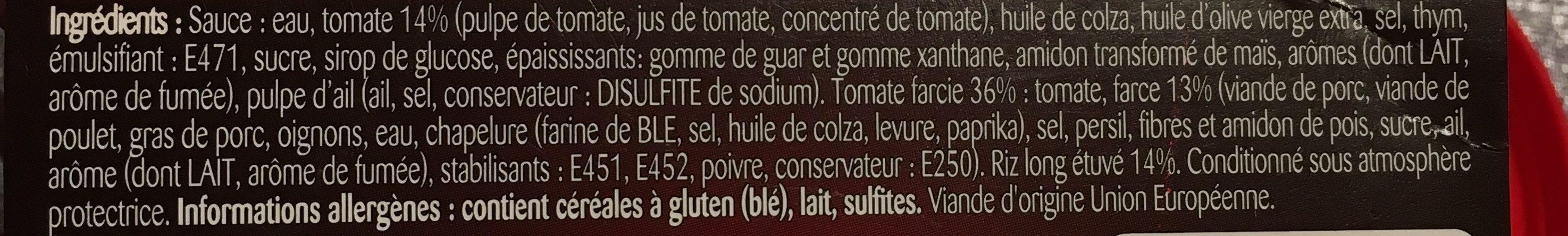 Tomate farcie - Compotée de tomate et riz - Ingrediënten - fr