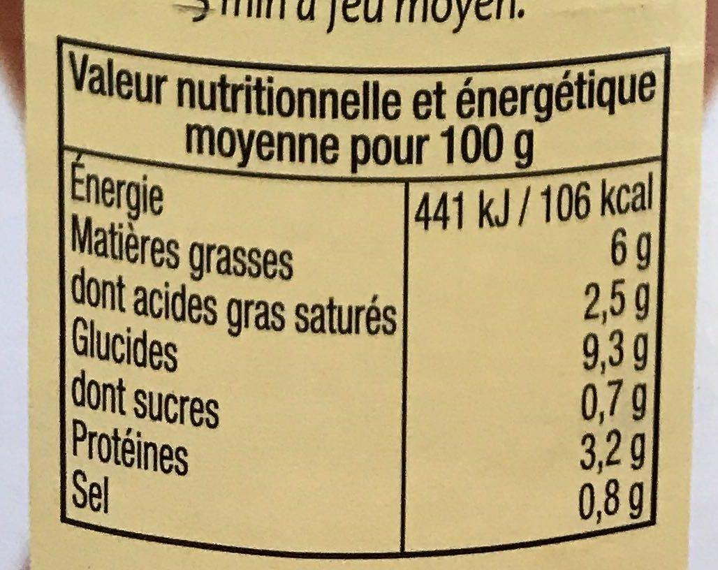 6 Quenelles de Volaille sauce forestière - Informations nutritionnelles