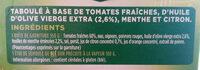 Taboulé aux Tomates Fraîches - Ingrediënten - fr