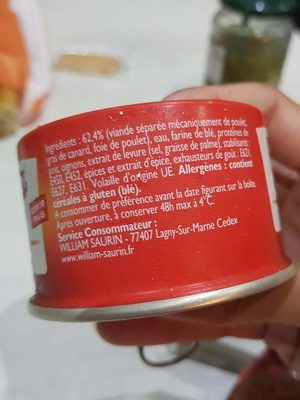 Pâté de volaille - Ingrediënten - fr