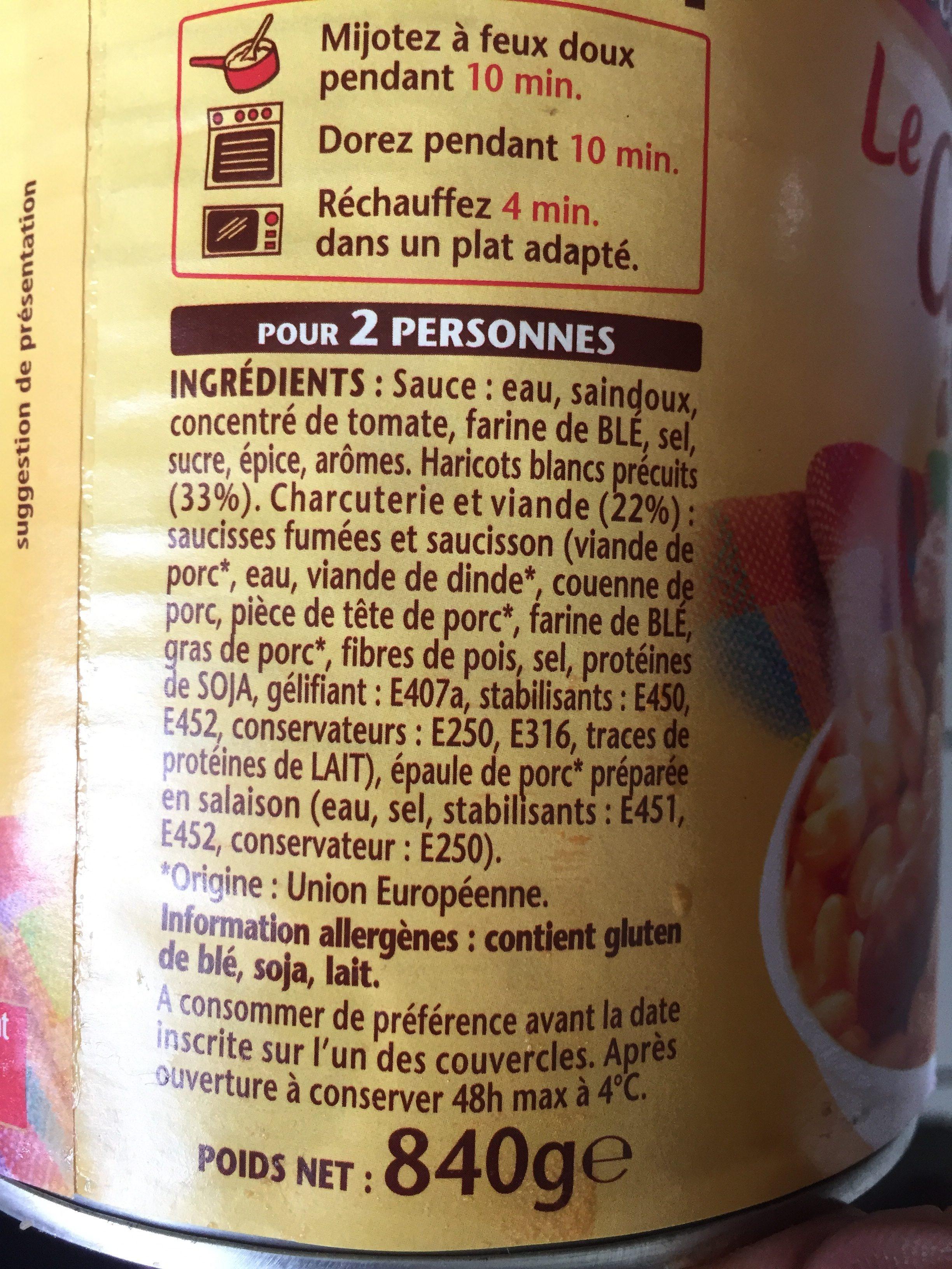 Le cassoulet à la Créole - Ingrédients - fr