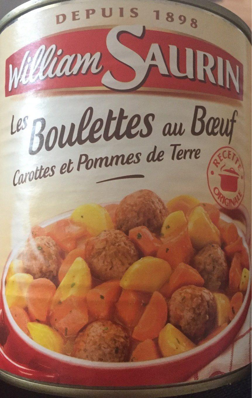 Les Boulettes Au Bœuf, Carottes et Pommes de Terre - Product - fr