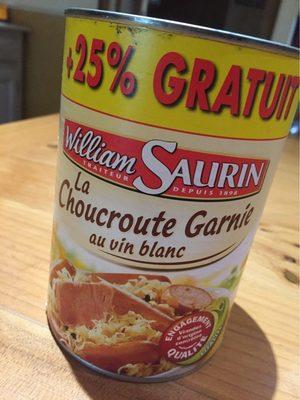 La choucroute garnie au vin blanc - Produkt - fr