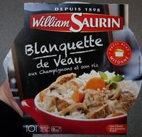 Blanquette de veau aux champignons et son riz - Produit - fr