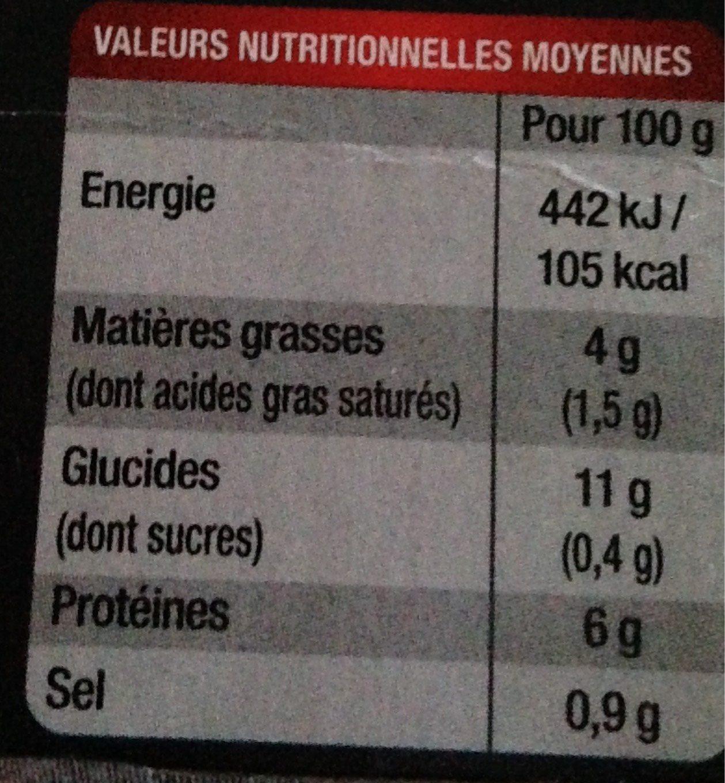 Blanquette de veau aux champignons et son riz - Informations nutritionnelles - fr