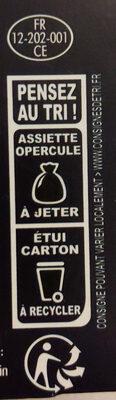 Blanquette de veau aux champignons et son riz - Instruction de recyclage et/ou informations d'emballage - fr