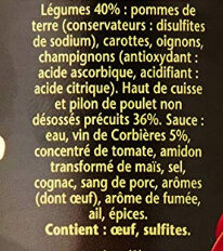 1898 coq au vin - Ingrédients - fr