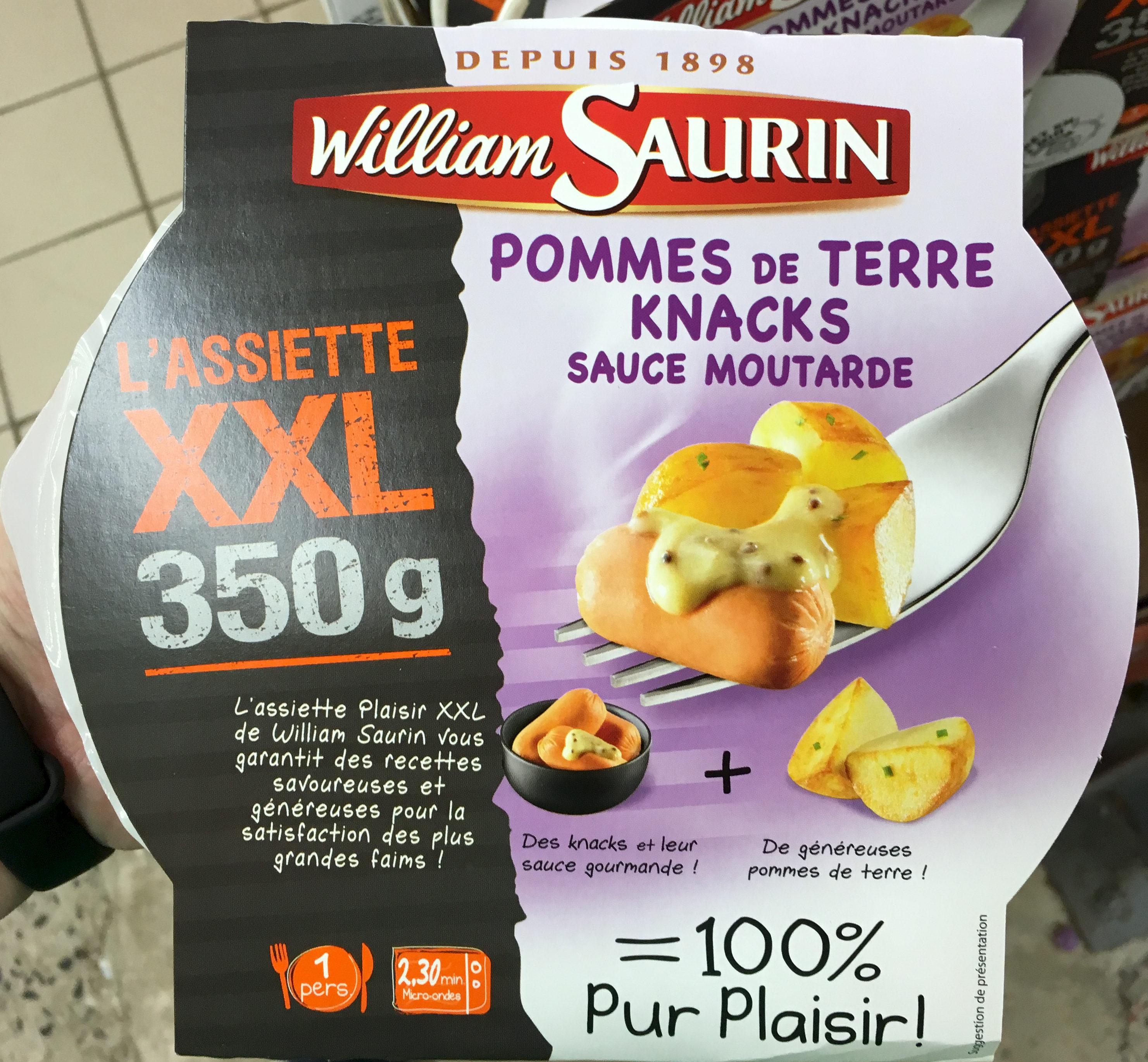 L'assiette XXL - Pommes de terre Knacks sauce moutarde - Product - fr