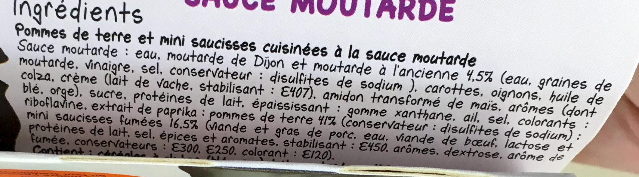 L'assiette XXL - Pommes de terre Knacks sauce moutarde - Ingrediënten - fr