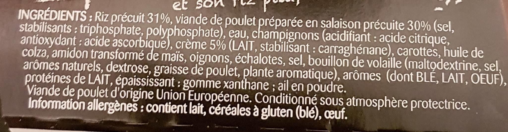 Suprême de Poulet & son Riz pilaf - Ingrédients - fr