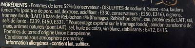 Assiette Tartiflette - Ingredients