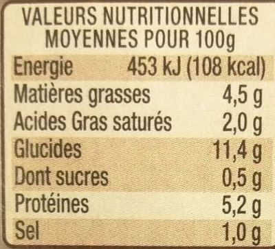 Les Cocottes Saumon au Citron - Nutrition facts