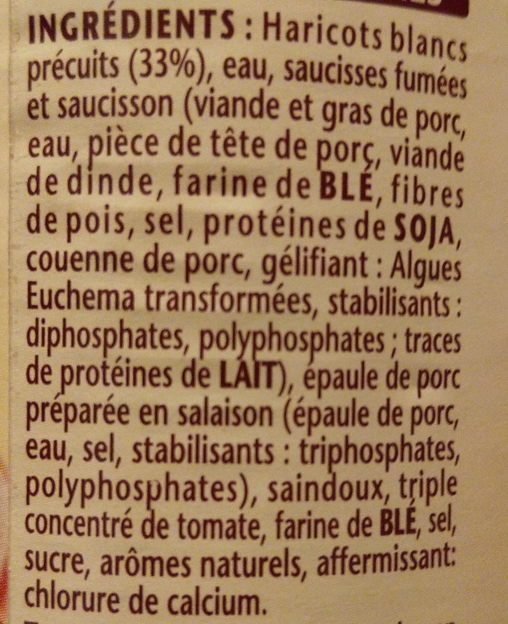 Le Cassoulet Mitonné - Ingrédients - fr
