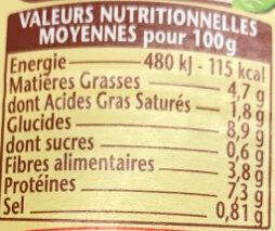 Cassoulet 420 Gr - Informations nutritionnelles - fr