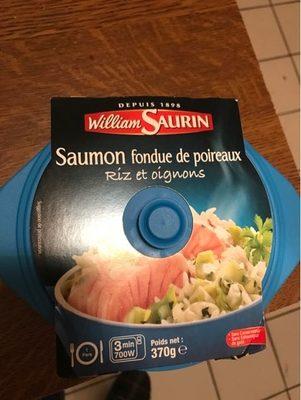 Saumon fondue de poireaux, Riz et oignons - Product - fr