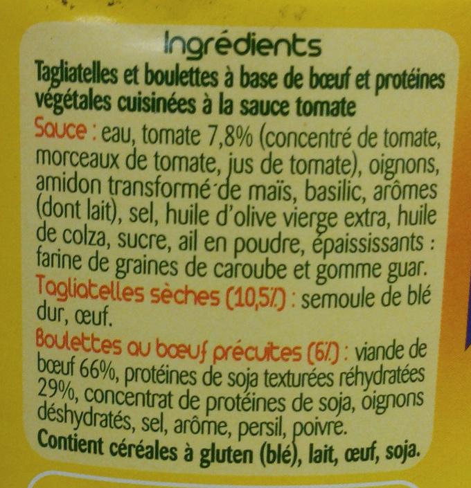 Taglia Ball's Provençale - Ingredients - fr