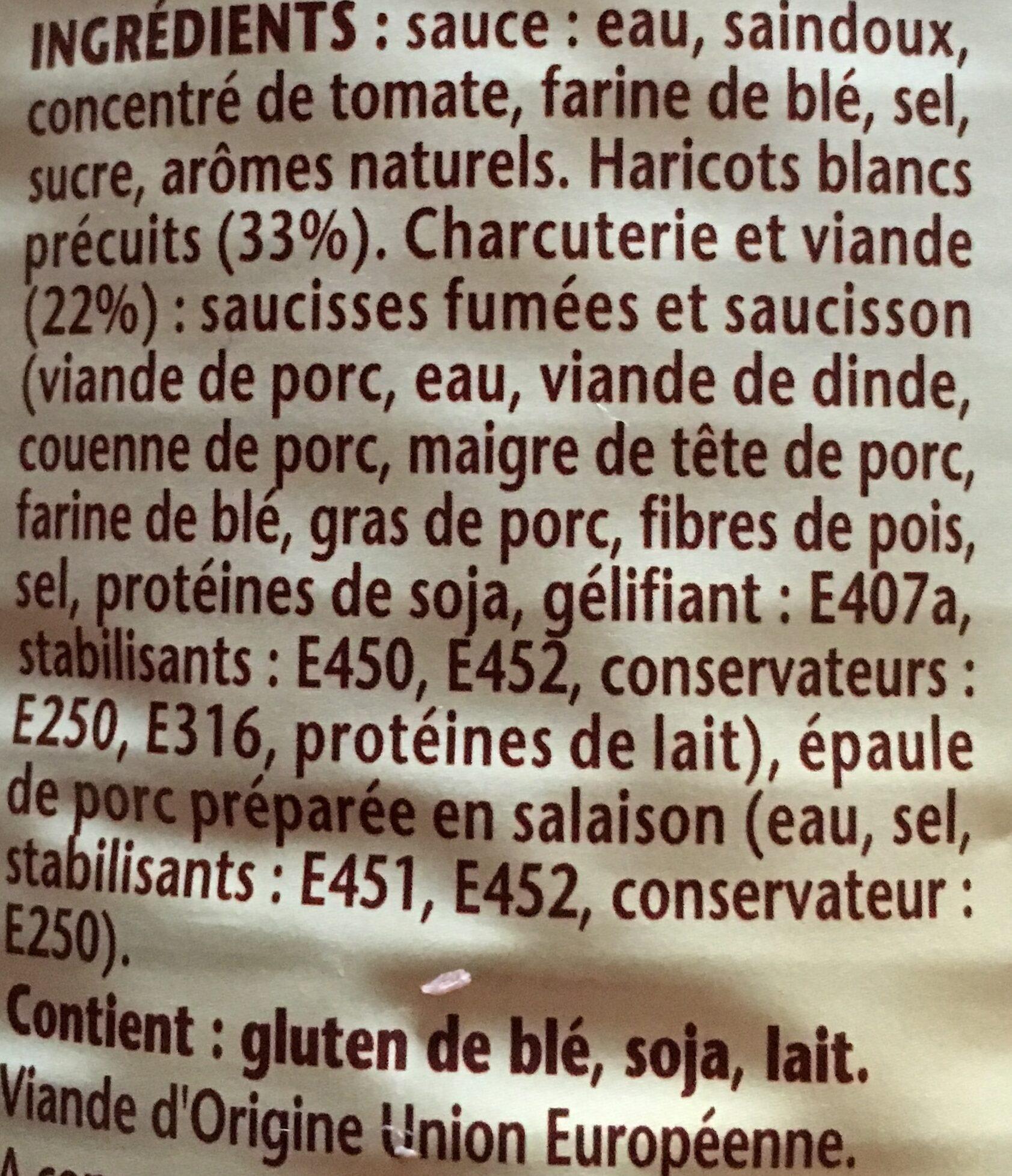 Le Cassoulet Mitonné - Ingrédients