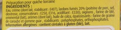 Mes Préparations pour Quiche Lorraine - Ingredients