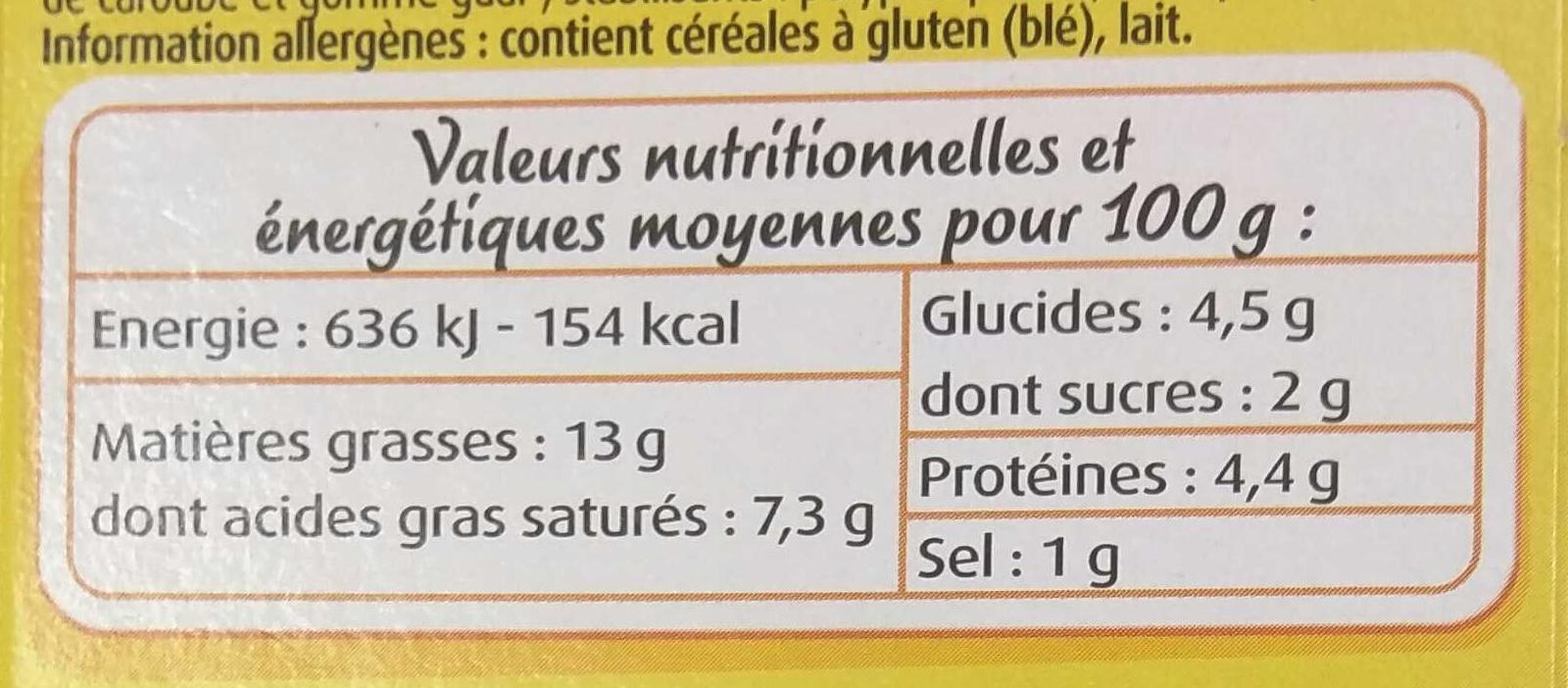Mes Préparations pour Quiche Lorraine - Nutrition facts
