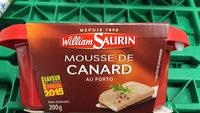 William Saurin Mousse De Canard - Product - fr