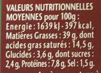 William Saurin Mousse De Canard - Voedingswaarden - fr