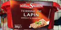 Terrine de Lapin (Serpolet & Vin Blanc) - Produit - fr