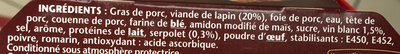 Terrine de Lapin (Serpolet & Vin Blanc) - Ingrédients - fr