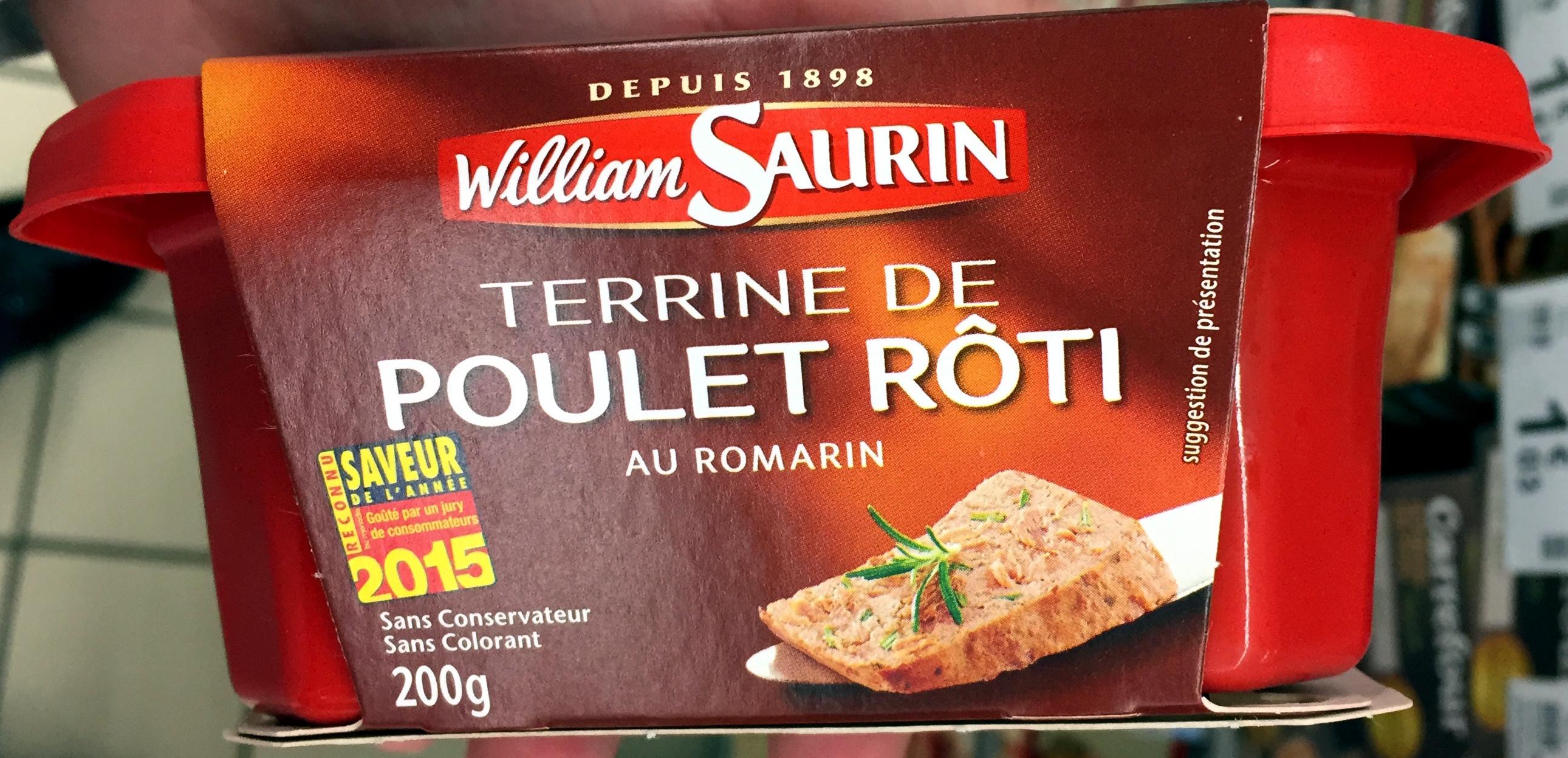 Terrine de Poulet Rôti au Romarin - Produit - fr