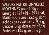 Terrine de Campagne (Ciboulette & Armagnac) - Nutrition facts - fr