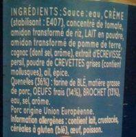 6 quenelles de brochet - Ingrediënten