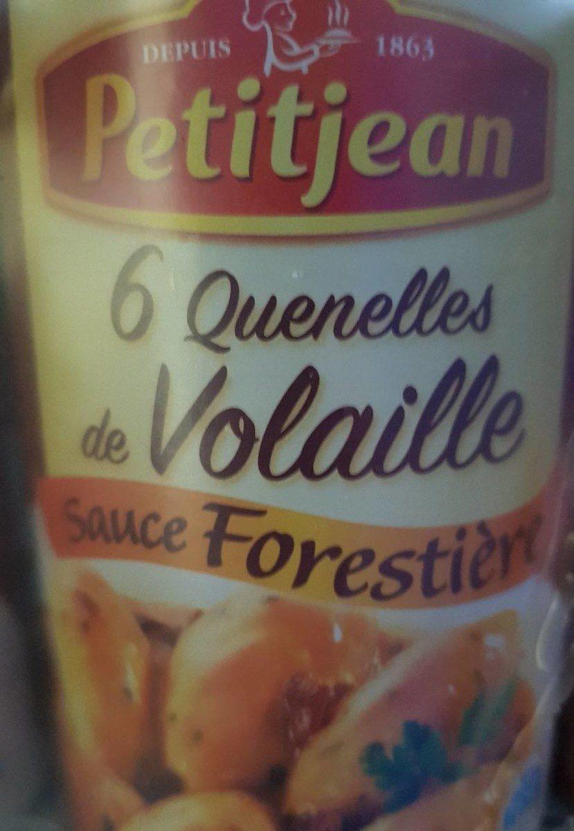Quenelles de volaille sauce forestière - Product - fr