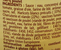 Ma recette façon Cassoulet 100 % volaille - Ingrediënten