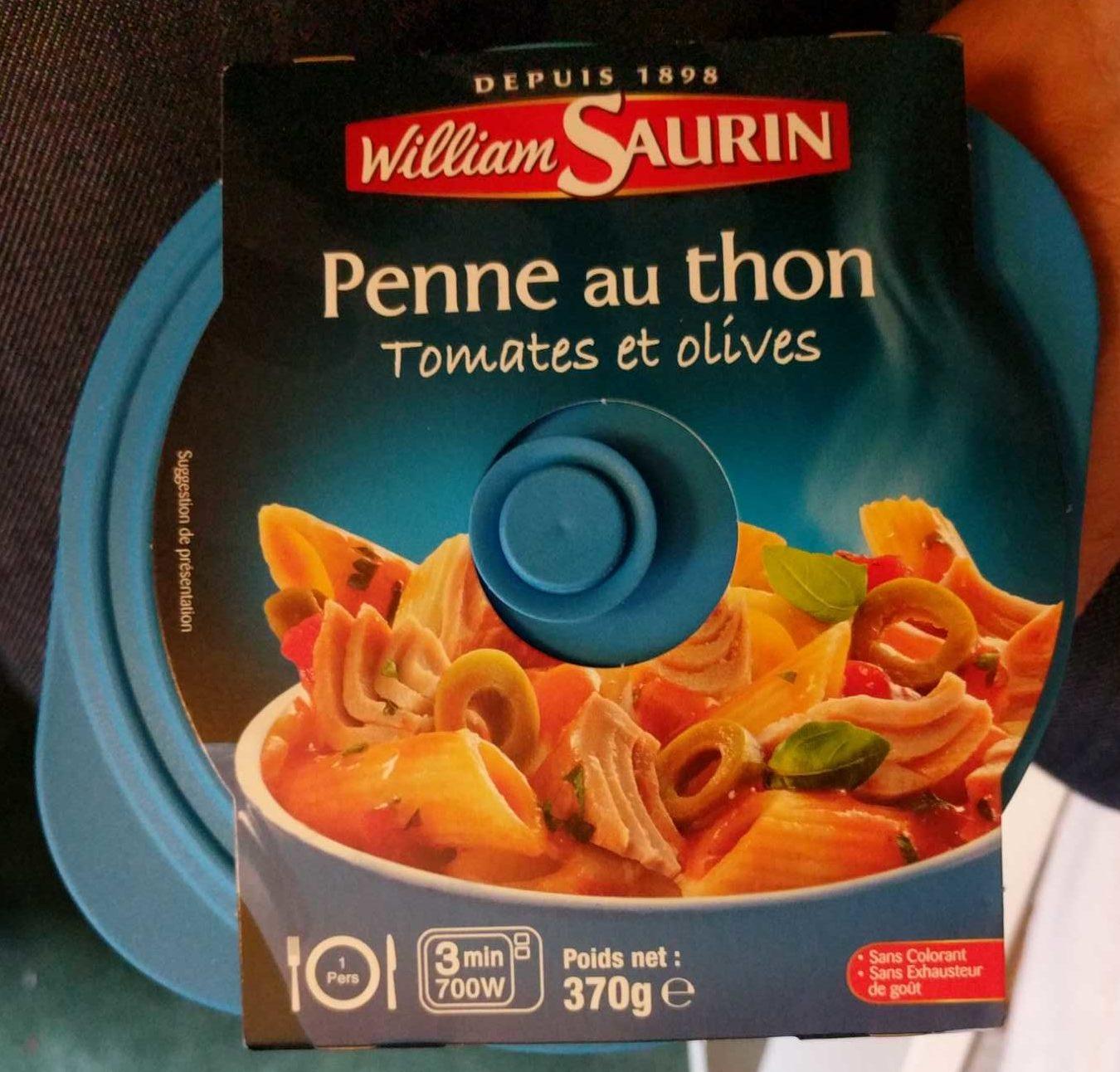 Cocottes pennes au thon tomates et olives - Produit