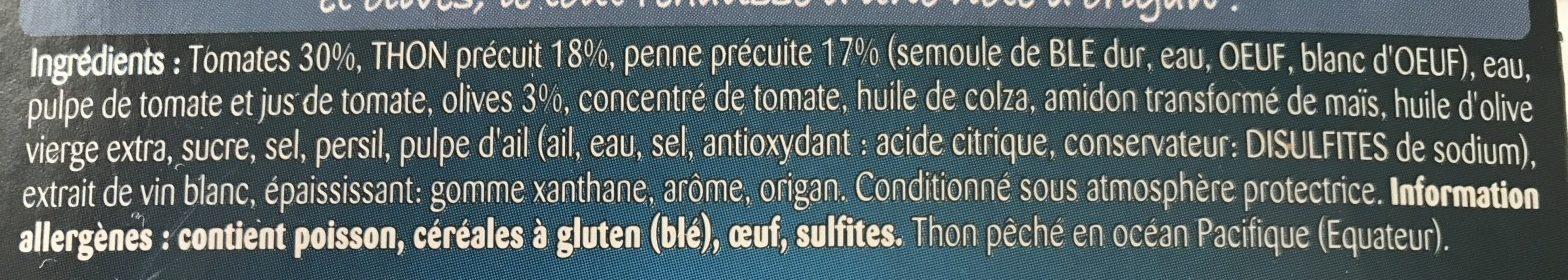 Cocottes pennes au thon tomates et olives - Ingrédients