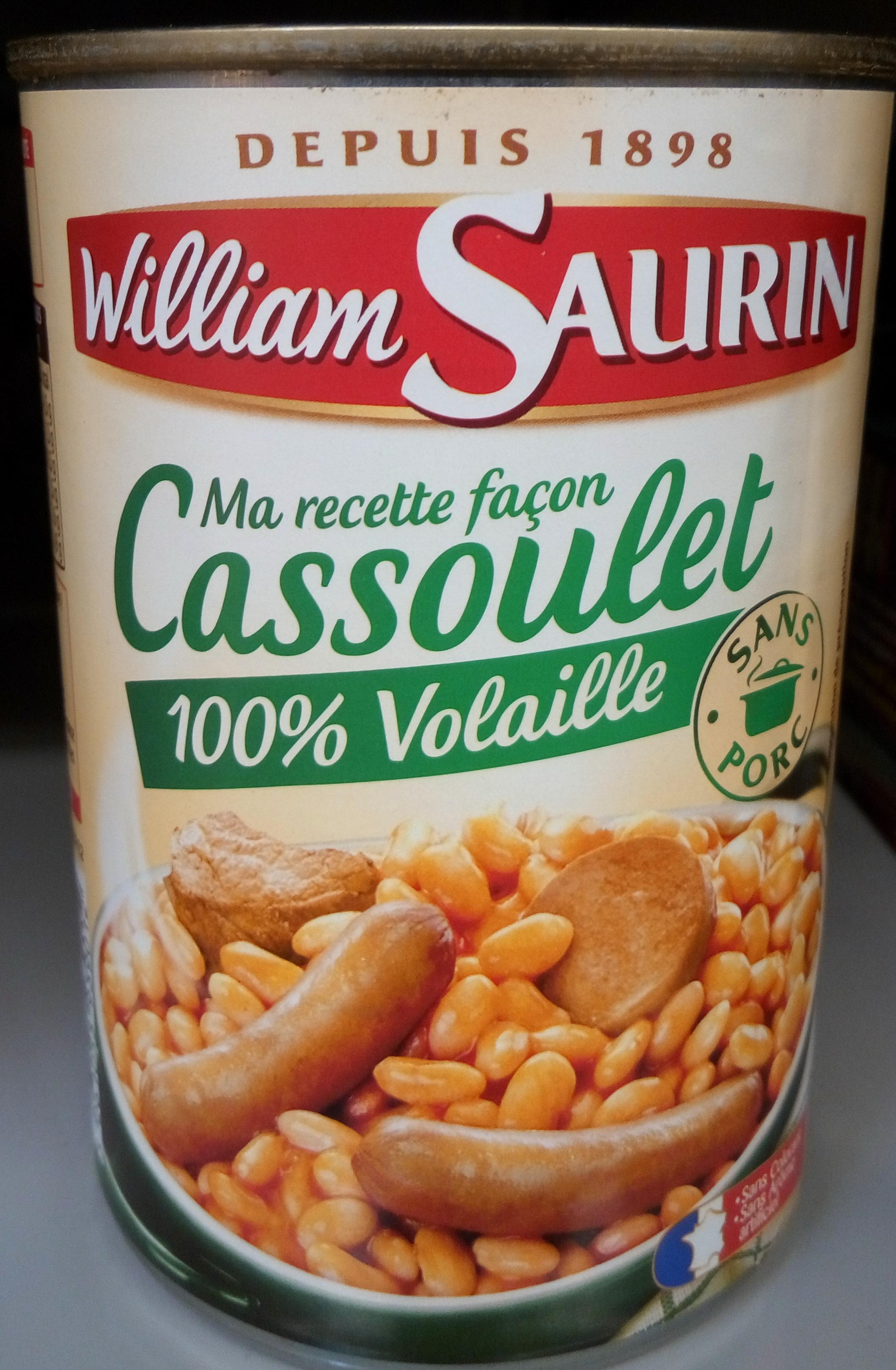 Ma recette façon Cassoulet 100 % volaille - Produit