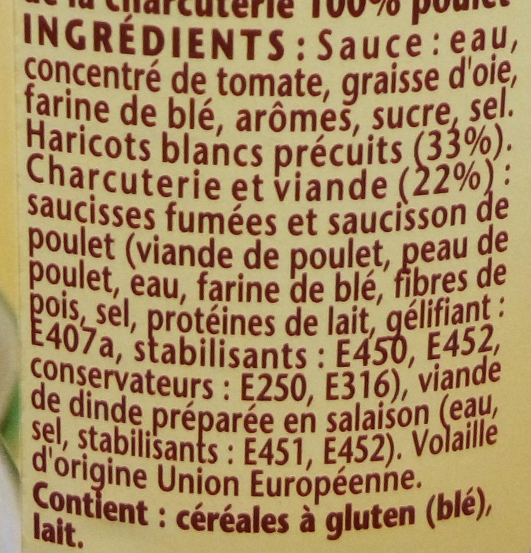 Ma recette façon Cassoulet 100 % volaille - Ingrédients