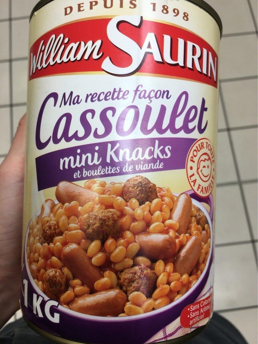 Ma recette façon Cassoulet mini Knacks et boulettes de viande - Produit - fr