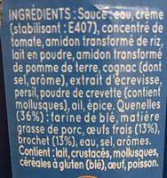 6 quenelles de brochet sauce nantua - Ingrédients
