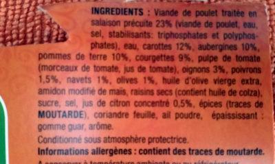 Tajine Poulet Citron et Olives - Ingrediënten - fr