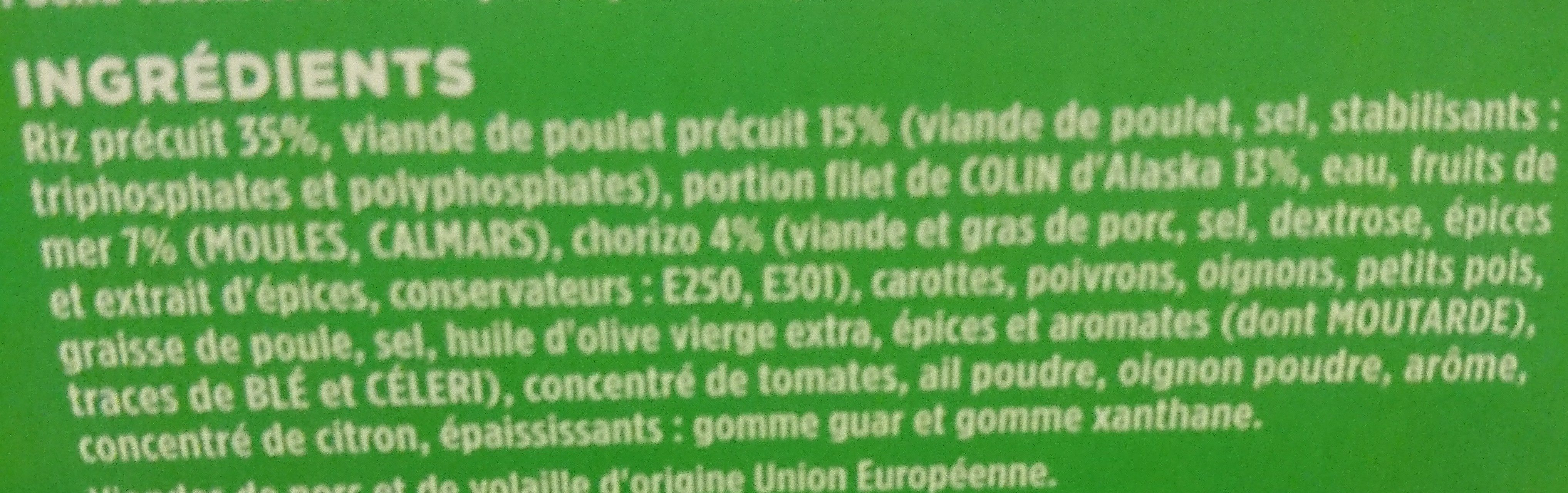 Paella Andalouse - Ingrediënten
