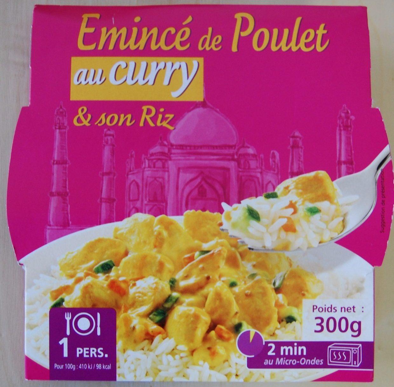 eminc de poulet au curry son riz sans marque 300 g. Black Bedroom Furniture Sets. Home Design Ideas