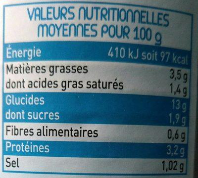Ravioli au saumon - Voedingswaarden - fr