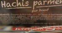 hachis parmentier - Ingrediënten - fr