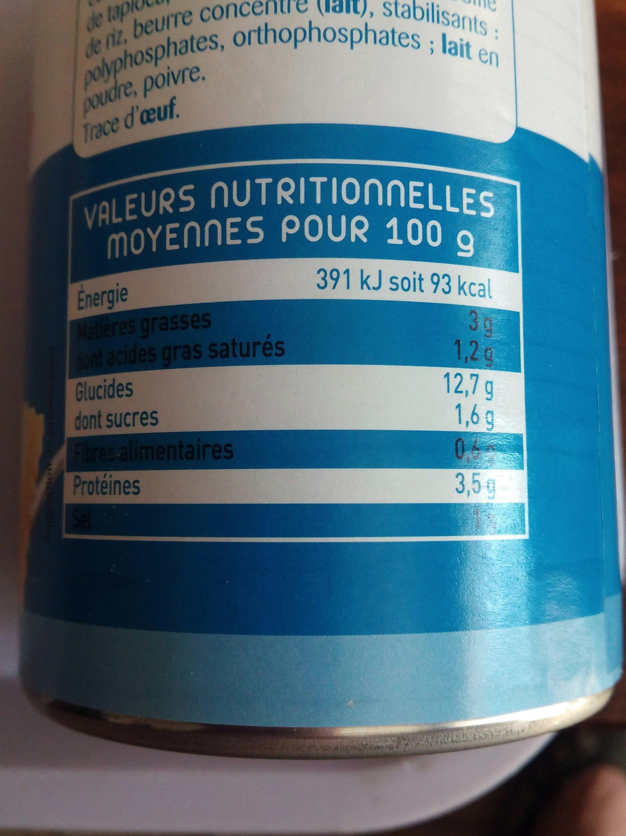 Ravioli Saumon - Voedingswaarden - fr