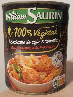 Boulettes de soja & tomates, fèves & carottes à la Provencale - Produit