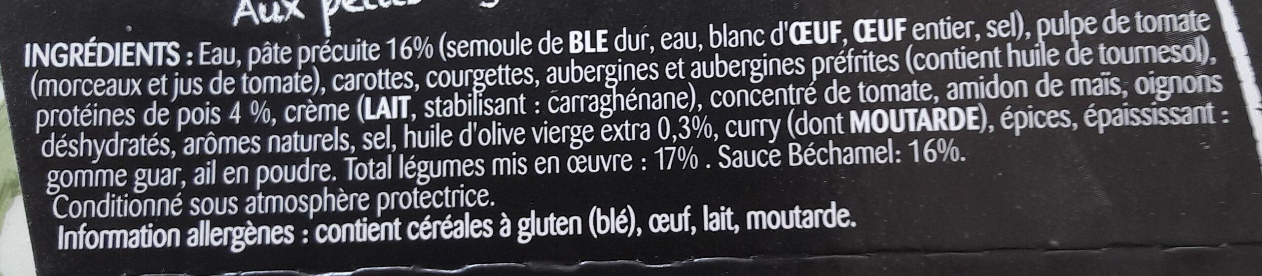 Lasagnes végétales - Ingredients - fr